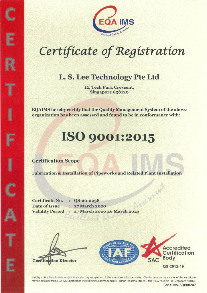 LS Lee Certifications - SAC